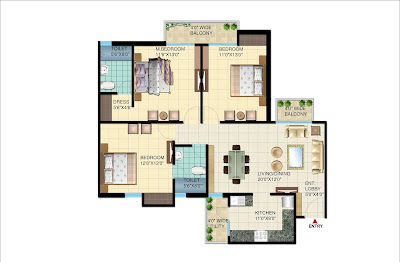 WAVE RESIDENCY, Sec-99,Mohali– 2BHK+Store Apartment
