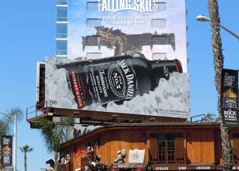 Jack Daniels on ice billboard