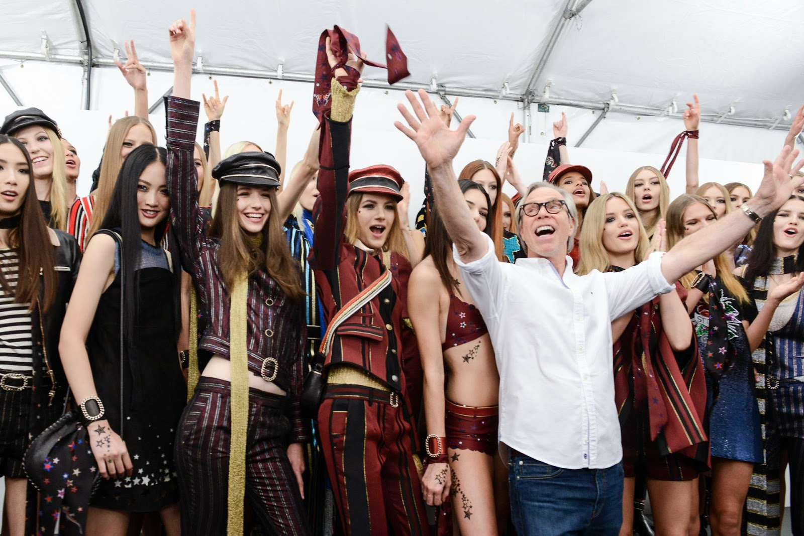 """alt=""""Tommy hilfiger, Spring 2015, womens wear, New York Fashion Week, MBFW New York, rock, luxury, icons, Suits and Shirts, """""""