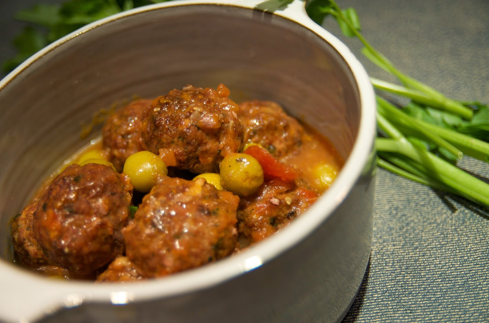 Slow Simmered Spanish Meatballs with Green Olives #Recipe | Exclusive Interview with Chef Annie Sibonney