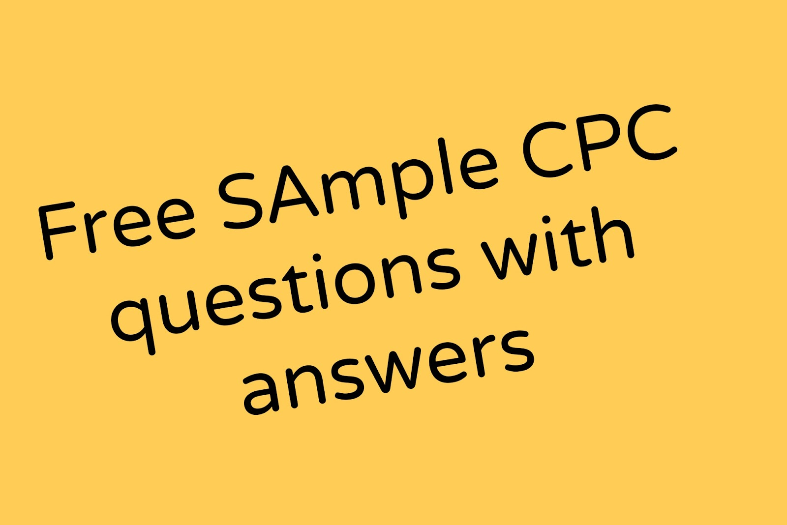 Free Sample Cpc Exam Questions With Explained Answers