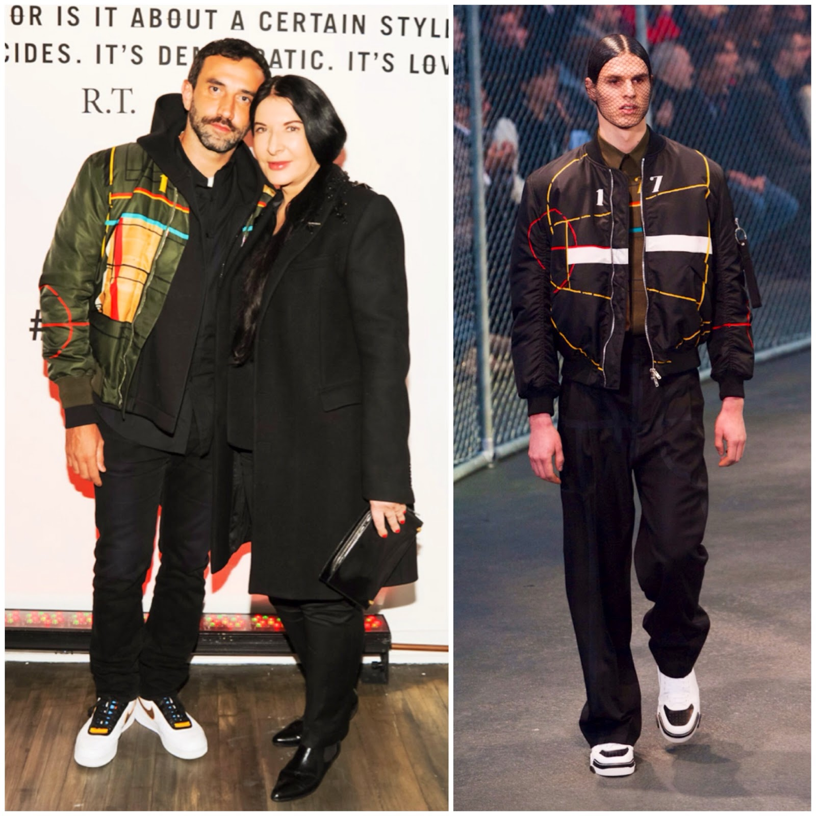 Riccardo Tisci in Givenchy - Nike + R.T. Air Force 1 Collection Launch Party