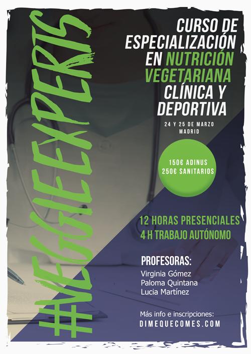 Curso de Especialización en Nutrición Vegetariana