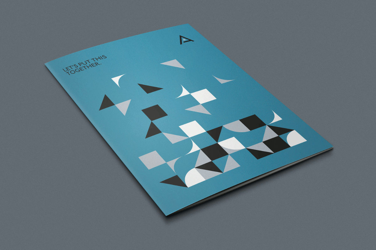 A branding cover or folder mock up for graphic designer