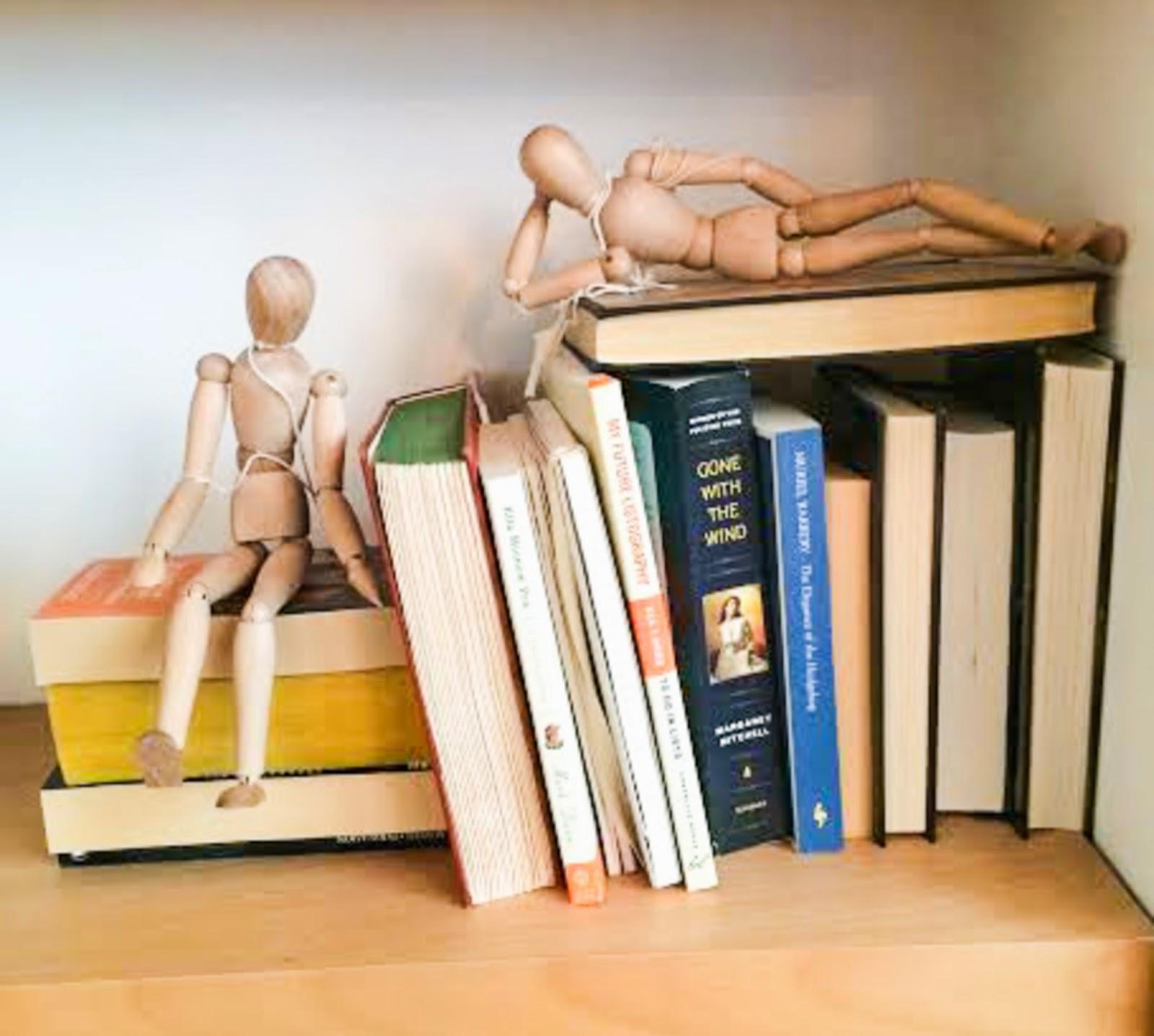 Clean book shelves