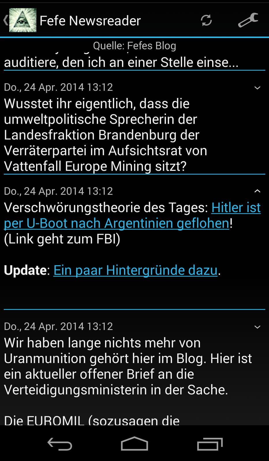 fefe newsreader android