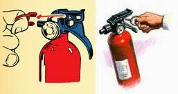 Tarik Pin Pada Tabung Pemadam Kebakaran Api RIngan APAR