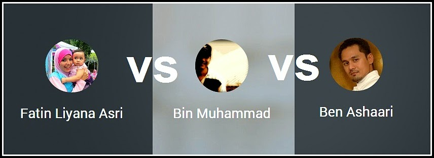 Fatin Liyana vs Bin Muhammad vs Ben Ashaari
