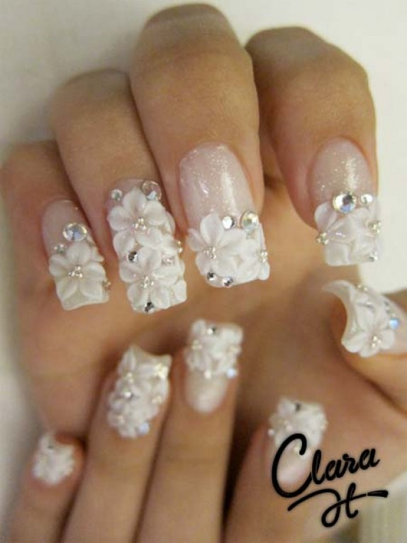 French Manicure Nail Art Games Further Pretty Acrylic Nail Designs As ...