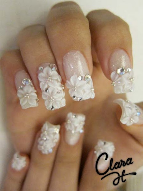 acrylic nail design with bows