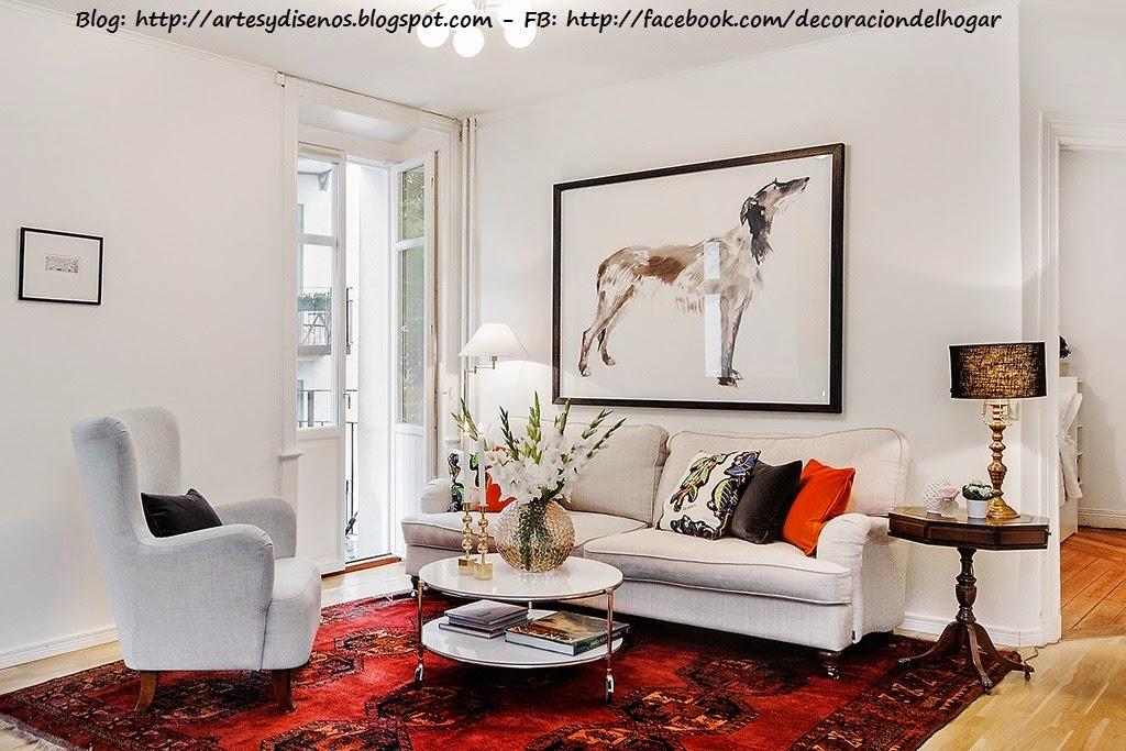 Sala elegante de color blanco for Muebles de sala blancos