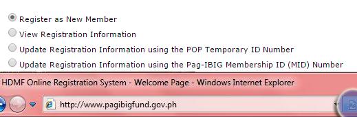 Pag Ibig Fund Online Registration Step 2