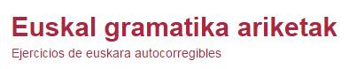 Euskal Gramatika