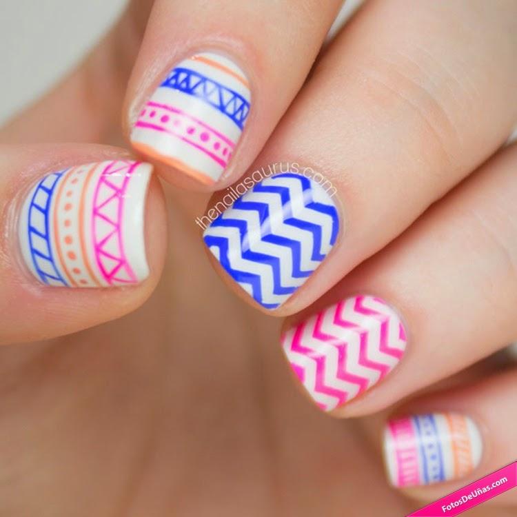 Узоры на маленьких ногтях