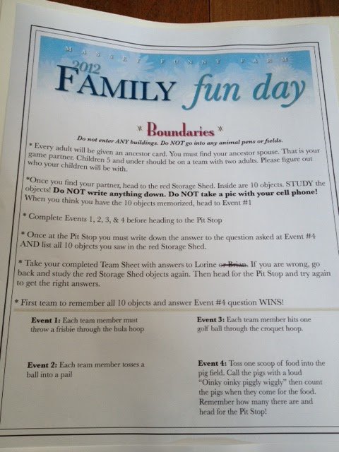 Olive tree genealogy blog august 2012 games for annual family fun day fandeluxe Images