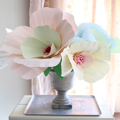 How to Make Giant Paper Flower Bouquet Centerpiece