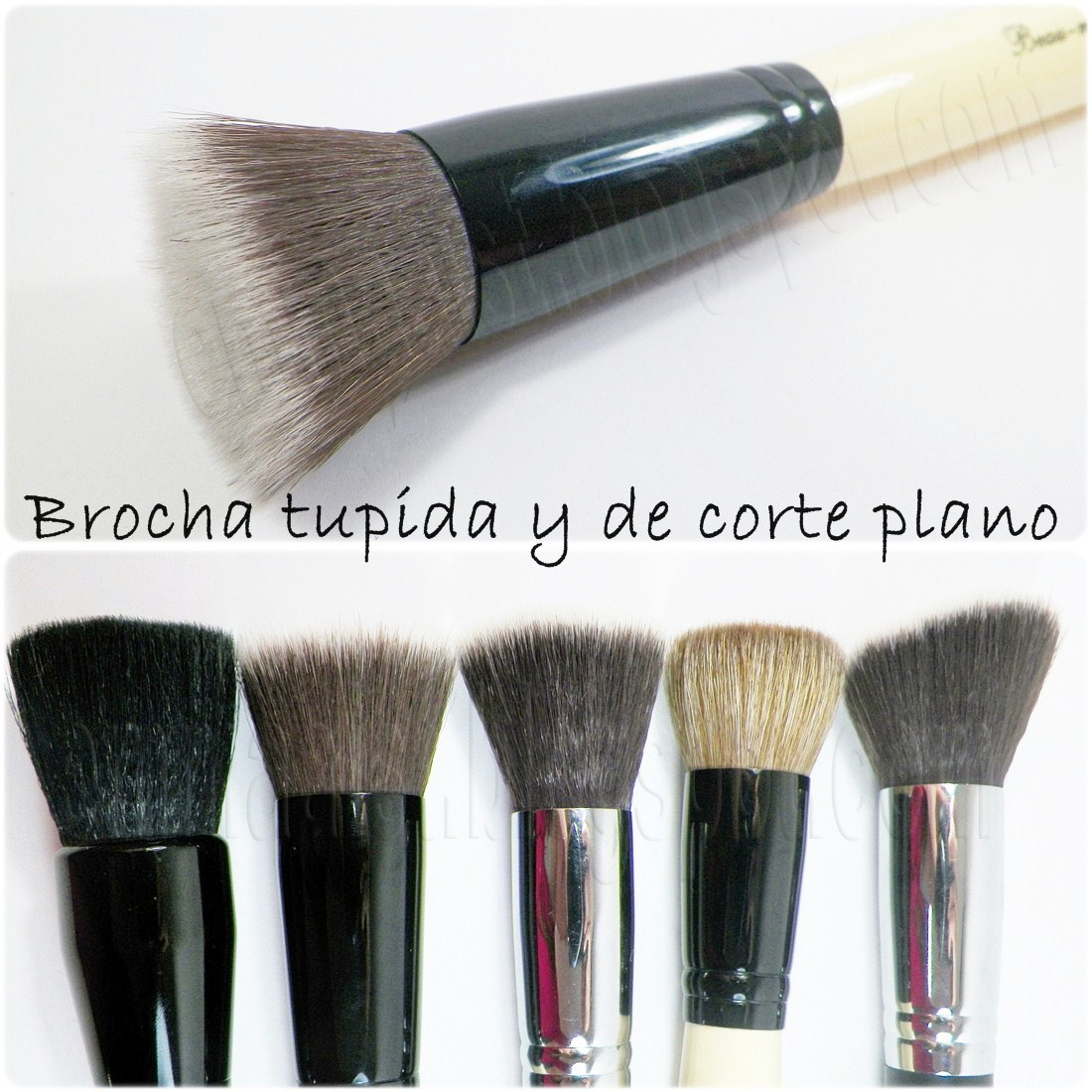 brocha para base de maquillaje