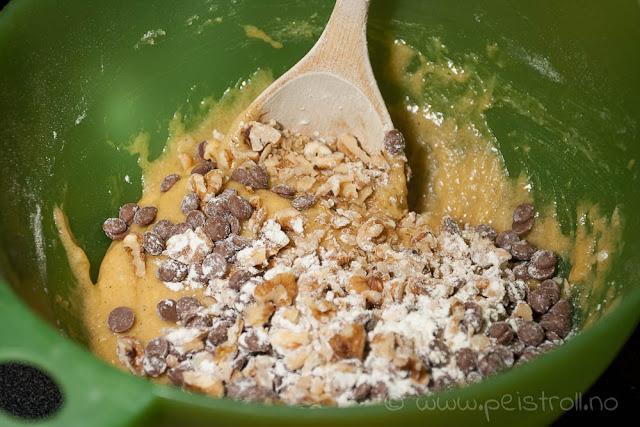 Banankake med chocolate chip