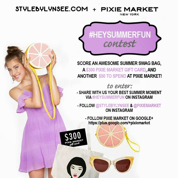 contest, free, freebies, giveawy, gift card giveaway, pixie market, style by lynsee, fashion blogger, summer fashion 2014, summer fashion, miami fashion blogger, google, youtube, stylehaul, style by lynsee, instagram, instagram giveaway, womens clothing, junior clothing, trendy clothing, trendy summer clothes, what to wear in the summer, teen vogue, seventeen, lucky mag, popsugar, pop sugar blogger