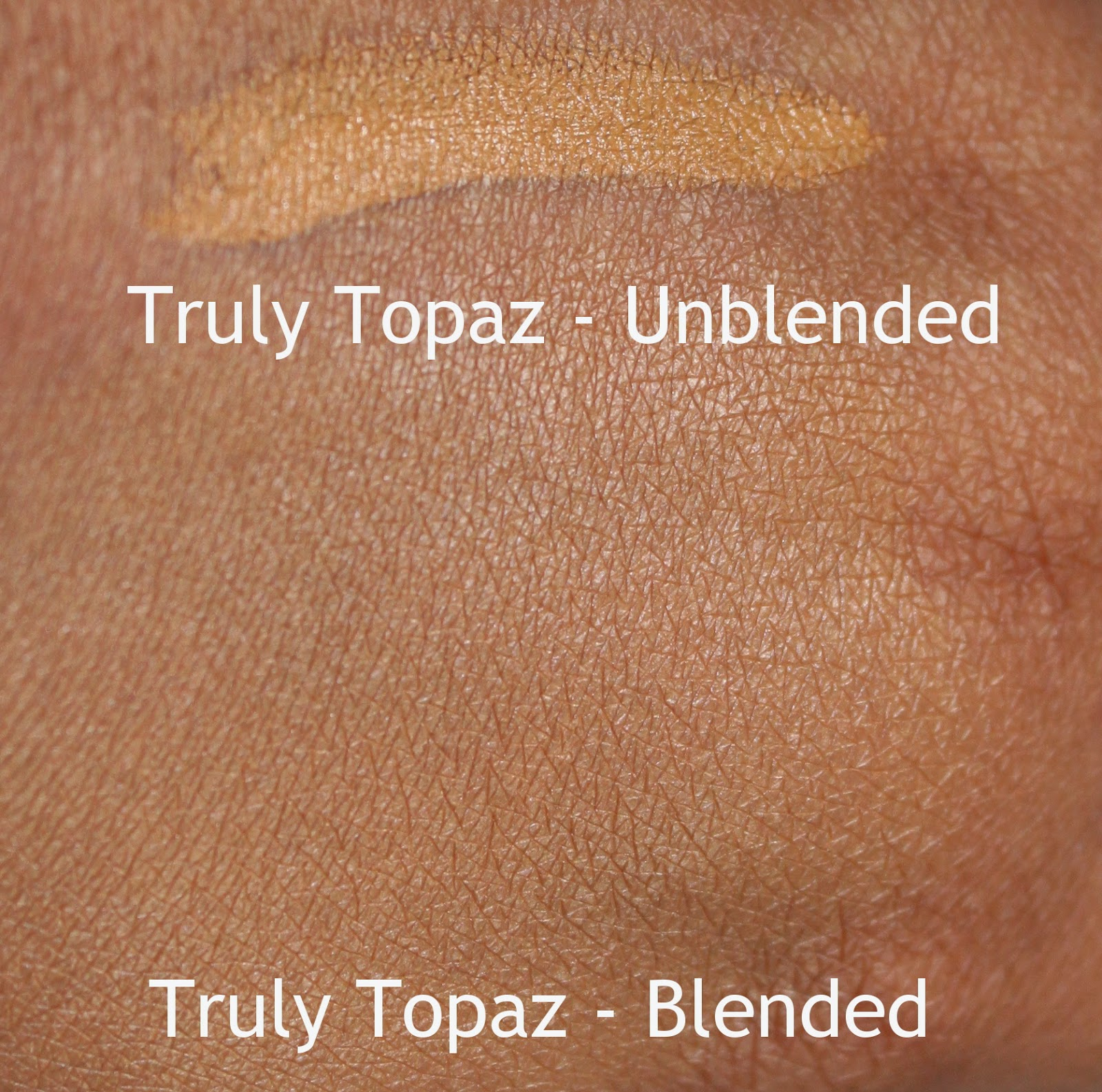 black opal stick foundation truly topaz swatches