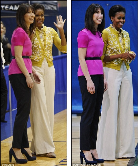 BFFs SamCam and Michelle Obama make the most of their spring wardrobes