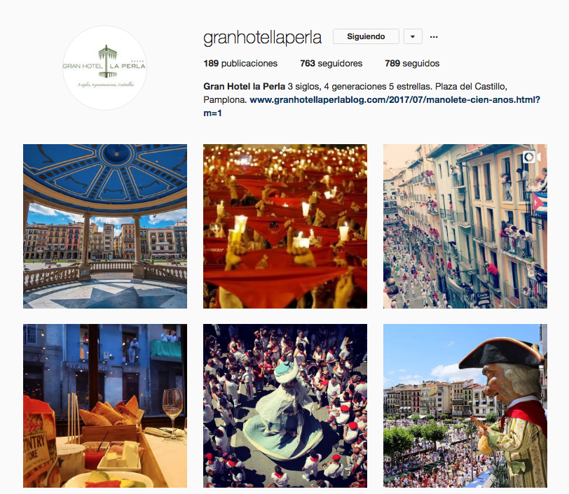 Instagram Gran Hotel La Perla
