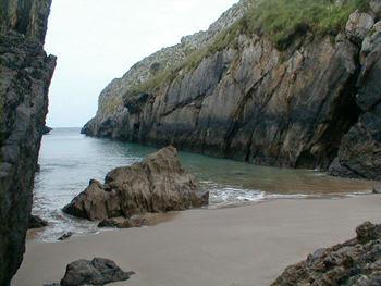 Playa de Villanueva de Pria en Llanes