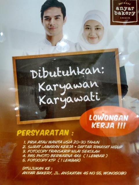 Lowongan Kerja di Anyar Bakery Wonosobo