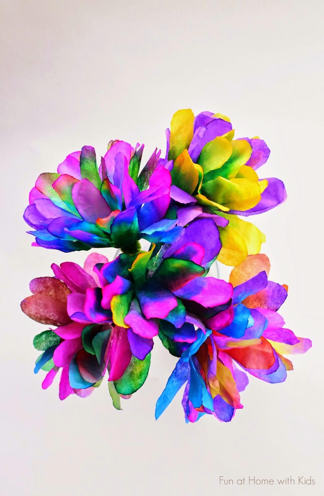 Kids Coffee filter flowers