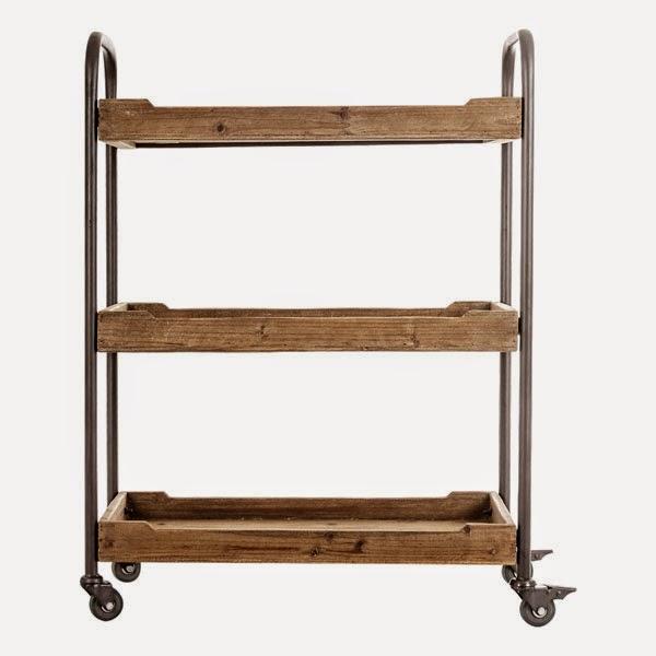 Muebles de forja carros de servicio en forja y madera for Camarera mueble