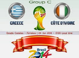 Greece vs. Côte d'Ivoire live