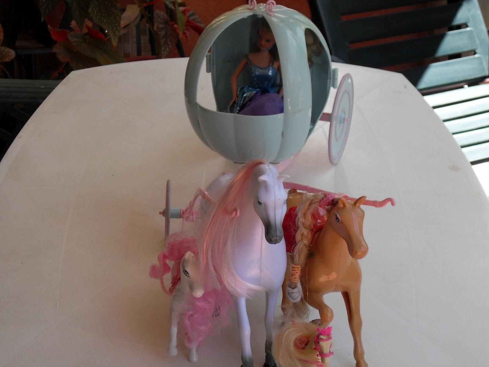 Pupaprinzessin cenicienta la carroza y los caballos - Carroza cenicienta juguete ...