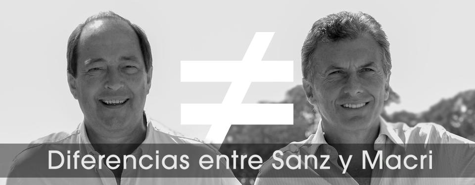 Diferencias entre Sanz y Macri
