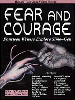 Cover of Sime~Gen anthology Fear And Courage