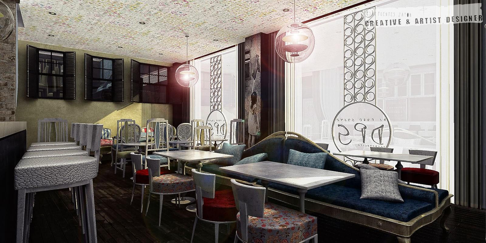 César Fuentes Interiorismo en Cafetería