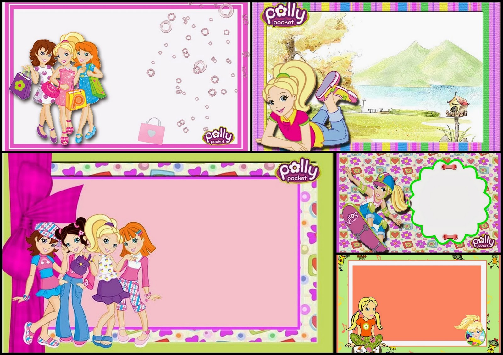 Polly Pocket: Free Printable Invitations, Labels or Cards. | Is it for ...