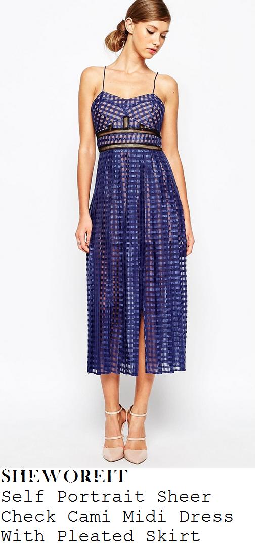 danielle-lineker-blue-sheer-check-sleeveless-split-front-midi-dress-serpentine