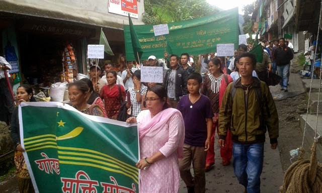 gnlf rally in mungpoo to bring back dghc
