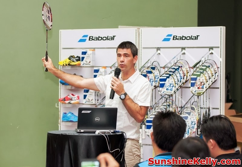 Joachim Fischer Nielsen, Babolat Badminton Demo Day, Malaysia, badminton, babolat, Nicolas Sene, Babolat Sports Marketing Director, France
