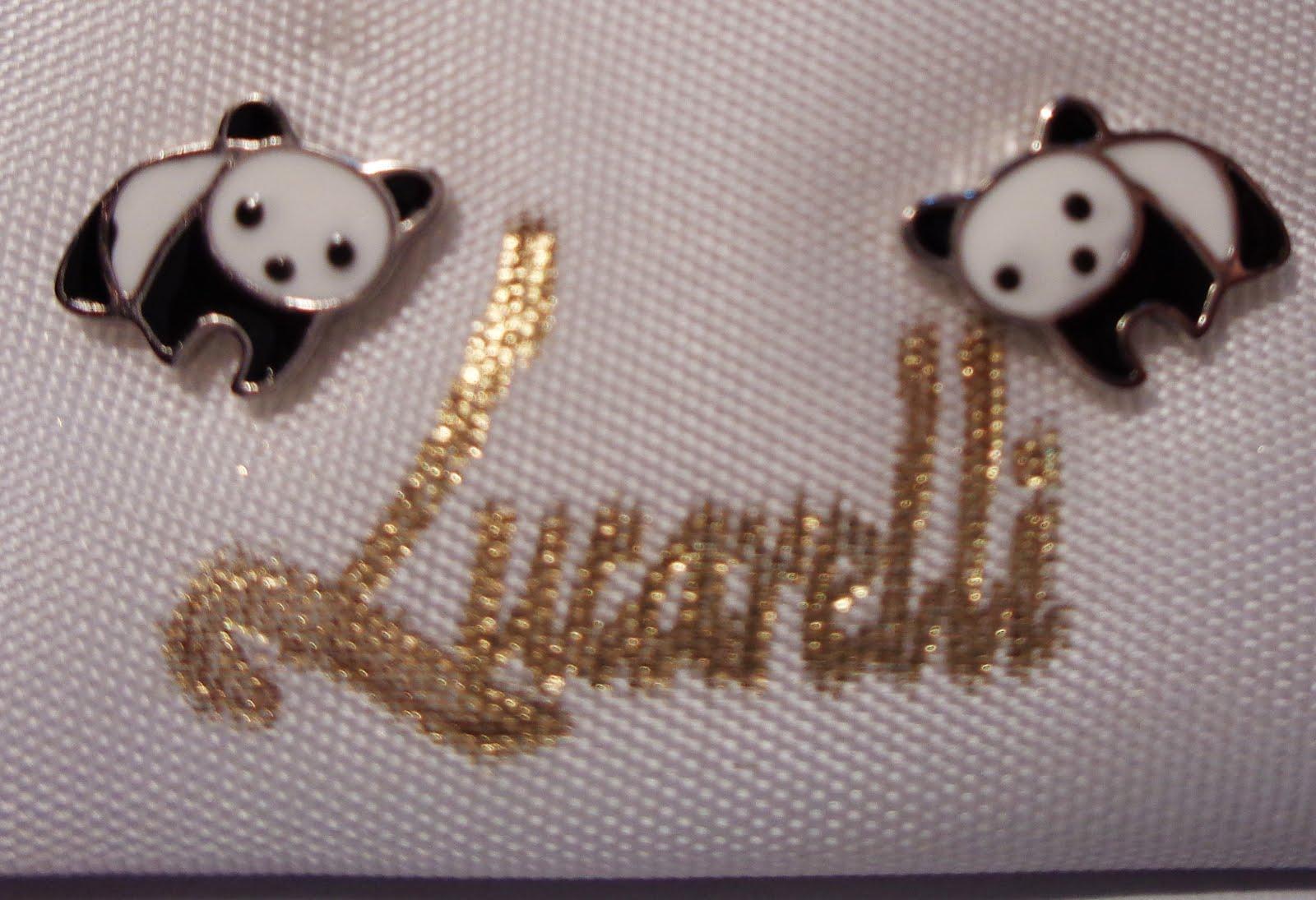 Pendientes de plata oso panda