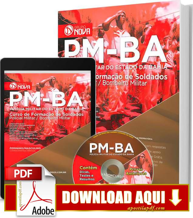 Apostila PM BA 2015 Soldado PDF Download Grátis com Impressa