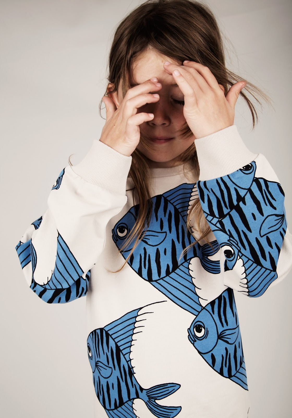 Mini rodini fishes sweatshirt blue at Yellow Dandy Australia