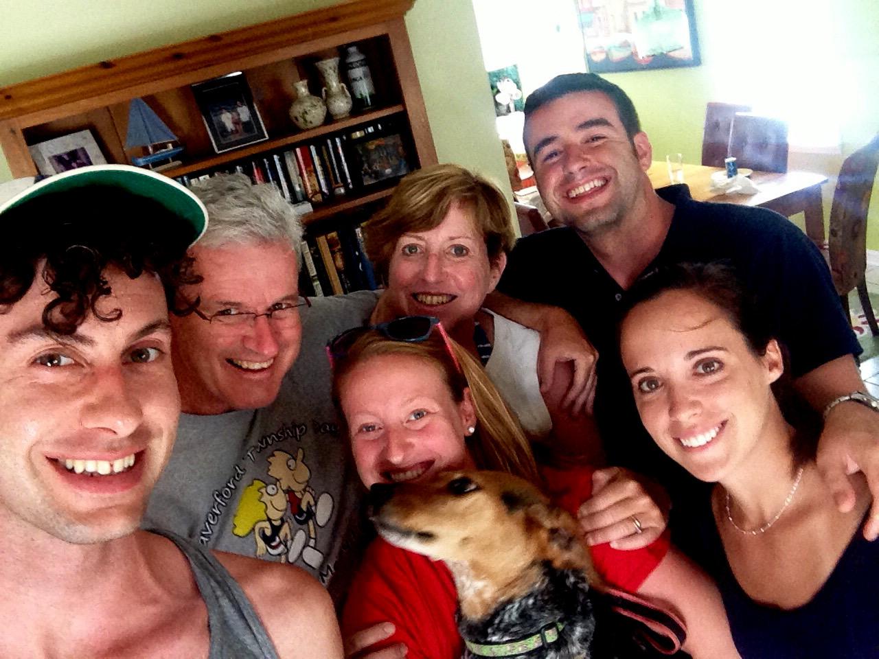 cozy birdhouse | family selfie