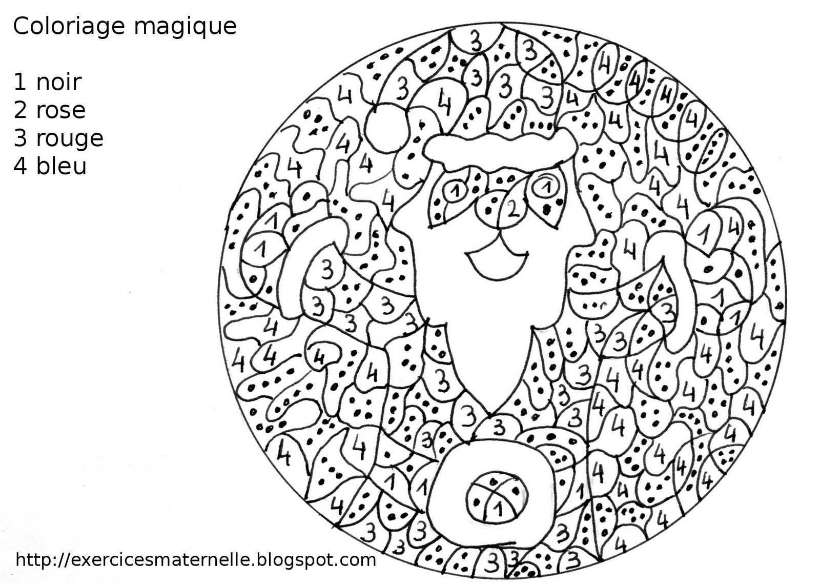 Colouiage magique encore le p¨re No l