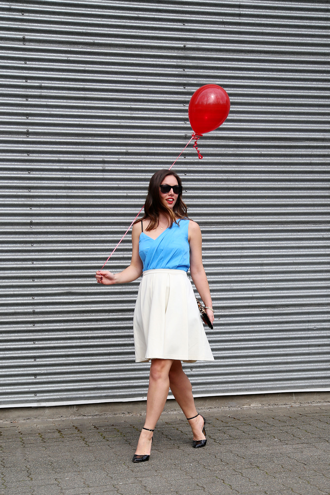 to vogue or bust, vancouver style blog, vancouver fashion blog, vancouver fashion, canadian fashion blog, alexandra grant, obakki dress, obakki a-line skirt, sole society heels, club monaco clutch, forever 21 bracelet, xo veronika necklace, h&m sunglasses, spring style, birthday outfit
