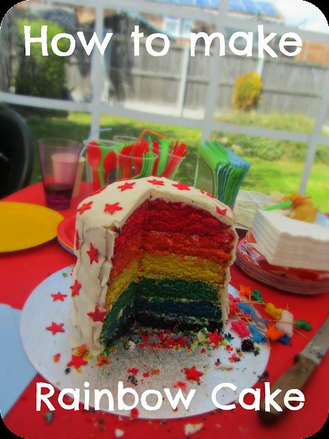 how to make rainbow cake, six layered rainbow cake, homemade rainbow cake, step by step guide, baking rainbow cake, easy to make rainbow layer cake
