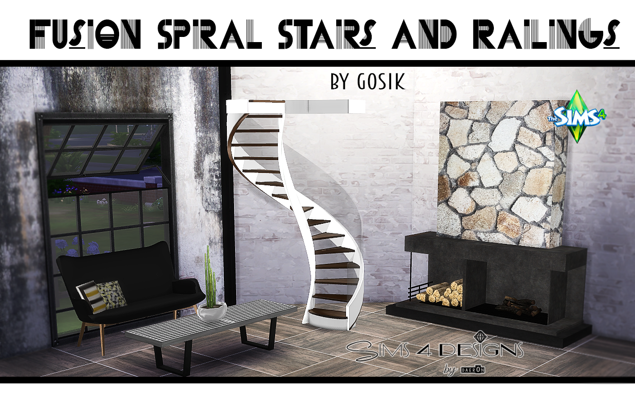 My Sims 4 Blog Ts3 Fusion Spiral Stairs Conversion By Daer0n
