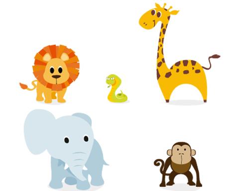 Conjunto de tiernos animalitos de la selva en vectores gratis . Estos ...