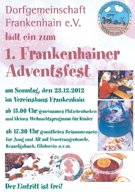 1. Frankenhainer Adventsfest