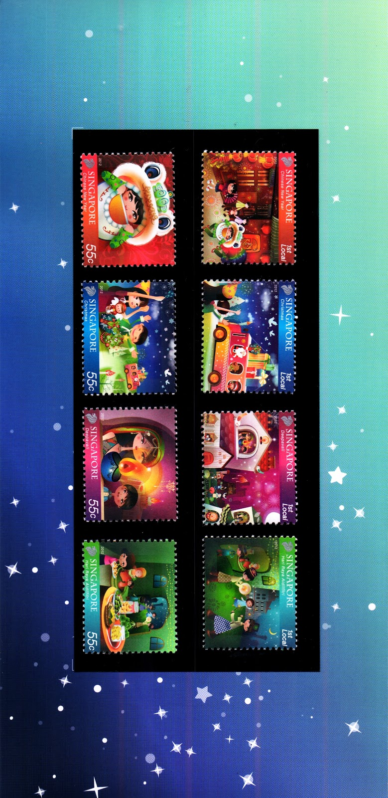 Festivals 2012 - Presentation Pack (complete set of stamps)